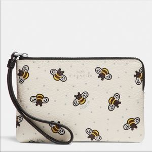 New Coach Wristlet With Bee Print! 🐝